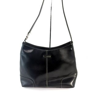 Guess Black Shoulder Bag White stitching